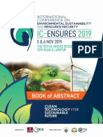Book of Abstracts IC-EnSURES 2019