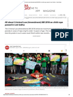 All About Criminal Law (Amendment) Bill 2018 on Child Rape Passed in Lok Sabha - India News