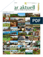 Agrar Aktuell - Published 29.10.2019 - 10 Years Aniversary of SIA Programe