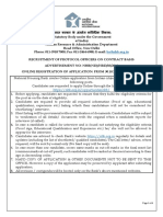 Advertisement for the Post of Protocol Officer