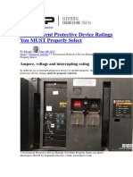 3 Overcurrent Protective Device Ratings You MUST Properly Select