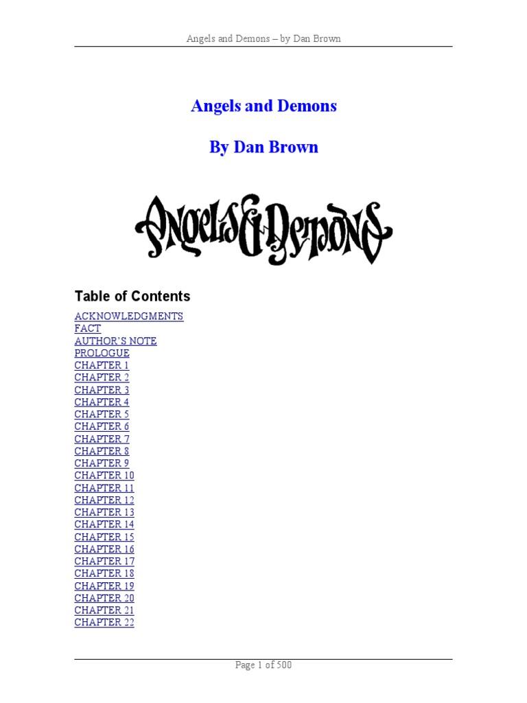 Angels and Demons   Dan Brown   Column