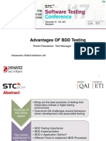 Advantages of Bdd Testing Stc 2017 Regional Round Ppt