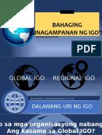 Bahaging Ginagampanan Ng Igo's