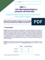 PEC 1 - Aspectos Generales de La Evaluacion Neuropsicologica (2019_1)