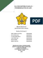 Cover Proposal Pkm Kewirausahaan