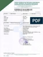 sertifikat kalibrasi