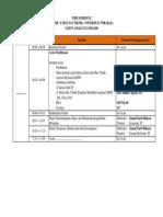 Time Schedule Lkmm