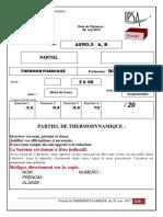Partiel de thermodynamique avec QCM du 26 mai 2015+corrigé