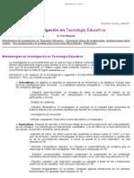 La Investigacion en Tecnologia Educativa