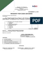 2015 Request for Cash Advance Second Tranch