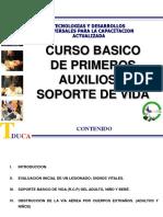 CURSO BASICO DE PRIMEROS AUXILIOS Y SOPORTE DE VIDA version 4 horas editado.ppt