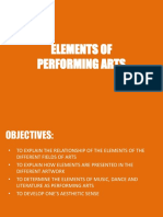 Elements of Performing Arts