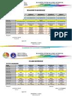 Teacher and Class Schedule Template