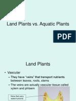 Land Plants vs Aquatic Plants