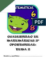 Cuadernillo de Matemáticas 2º Oportunidad Tema 2