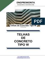 Telhas de Concreto Tipo W