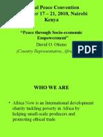 Peace and Economic Empowerment Presentation