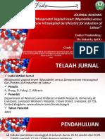 jurnal pemberian dinoprostone vs miso dalam induksi persalinan