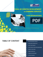 Proposal of Conten Development E-learning-plan International