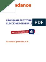 Programa Electoral Lectura Facil