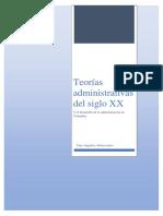 TEORIAS ADMINISTRACION SIGLO XX