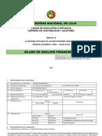 Silabo Analisis Financiero II