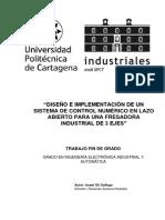 Diseño e Implementación de Un Sistema de Control Numérico en Lazo Abierto Para Una Fresadora