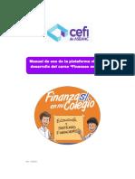 """Manual de Uso de La Plataforma Virtual """"Finanzas en Mi Colegio"""""""