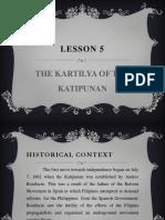 LESSON 5- THE KARTILYA OF THE KATIPUNAN.pptx