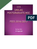 111 Unilag Pg-fees -2016