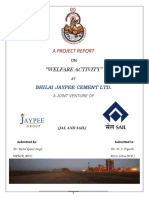 A Project Report on Welfare Activity at Bjcl