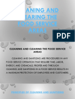 Cleaning and Clearing the Food Service Areas