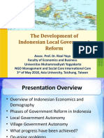 1f - The development of Indonesian Local Government Reform - Dr. Rizal Yaya.pptx