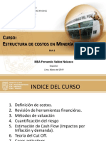 estructura de costos mineros