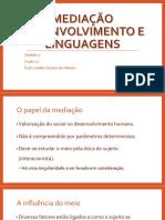 Mediação Desenvolvimento e Linguagem