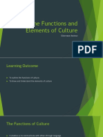 The Functions and Elements of Culture