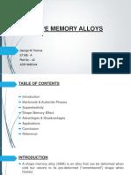 Shape Memory Alloy - Seminar PPT