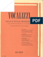 Vocalizzi Nello Stile Moderno Per Voce Acuta (I Serie)