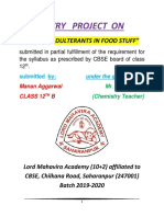 Chemistry Project on study of food adulterants