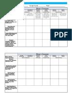 unit planning matrix  using blooms taxonomy