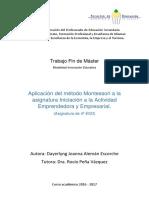 11. Aplicacion del metodo Montessori a la asignatura Iniciacion a la Actividad Emprendedora y Empresarial.pdf