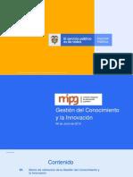 gestion del conocimienot y la innovacion en colombia