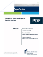 Cognitive Hubs and Spatial Redistribution