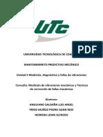 Medición de vibraciones mecánicas y Técnicas de corrección de fallas mecánicas