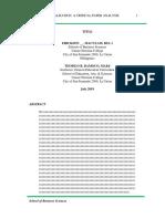 Paper Analysis Format