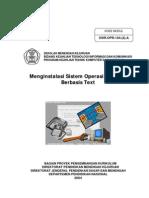 Menginstalasi Sistem Operasi Jaringan Berbasis Text