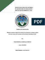 """""""Modelo de Gestión Integral Del Manejo de Los Desechos y Residuos Sólidos Del Casco Urbano Del Mu"""