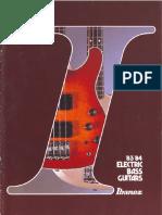 1983-84 Electric Bass Guitars