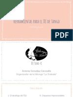 Herramientas para el DJ de tango